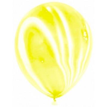 Шар Желтый агат (мраморный)