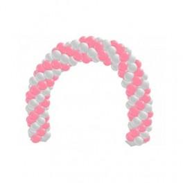 Гирлянда из шаров двухцветная, Белый и Розовый