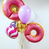 Шар Пончик круглый, Розовый