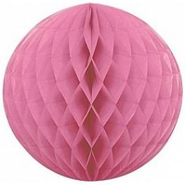 """Бумажный шар-соты, Розовый (12""""/30 см)"""