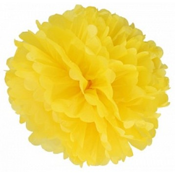 Бумажный Помпон, Желтый 41 см