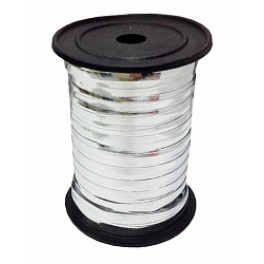 Лента металлизированная (0,5 см х 250 м) Серебро