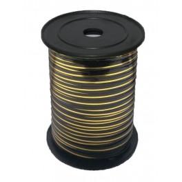 Лента с золотой полоской (0,5 см х 250 м) Черная