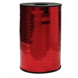 Лента металлизированная (0,5 см х 250 м) Красная