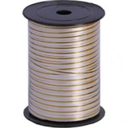 Лента с золотой полоской (0,5 см х 250 м) Белая