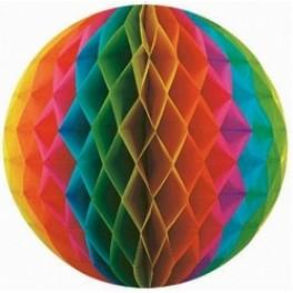 """Бумажный шар-соты, Разноцветный (12""""/30 см)"""