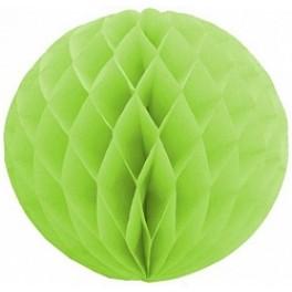 """Бумажный шар-соты, Зеленый (8""""/20 см)"""