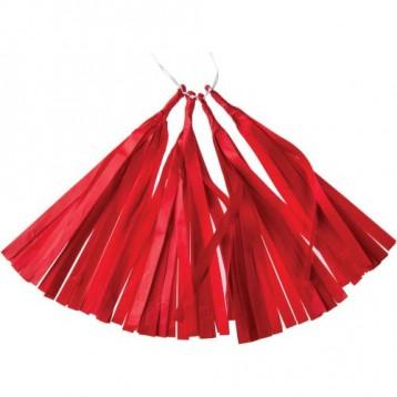 Тассел-гирлянда, Красный, 35 см.