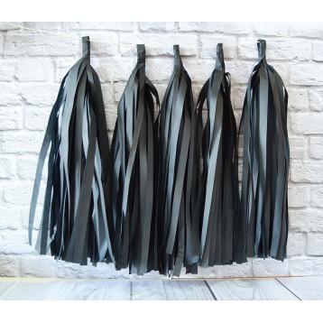 Тассел-гирлянда, Черный, 35 см.