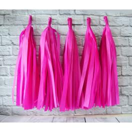 Тассел-гирлянда, Ярко-розовый, 35 см.