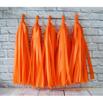 Тассел-гирлянда, Оранжевый, 35 см.