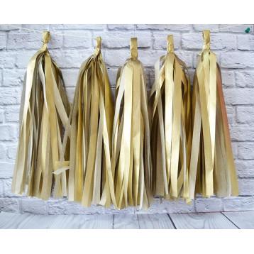 Тассел-гирлянда, Золото матовое, 35 см.