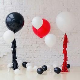 """Сет из больших шаров  """"Красное и черное"""""""