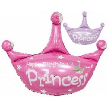 Шар Корона принцессы, Розовый, 81 см