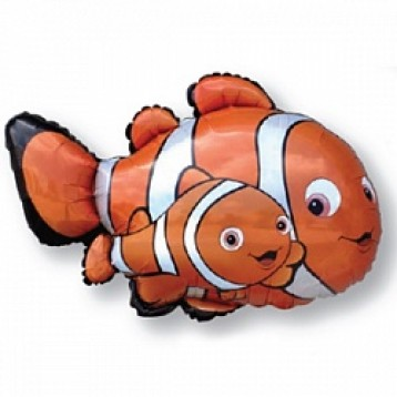 "Шар Рыбка-клоун Немо, (32""/86см)"