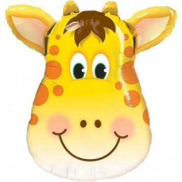 Шар Голова Жирафа, Оранжевая, 64 см