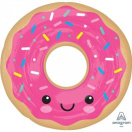 Пончик в розовой глазури, 68 см