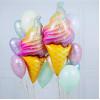 Мороженое рожок радужный, 119 см