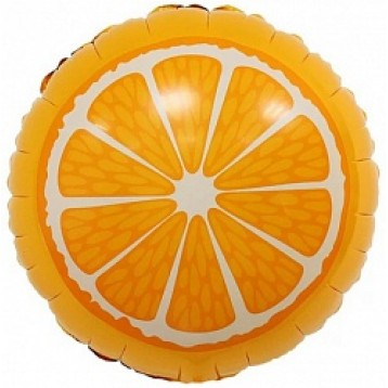 """Шар Круг , Апельсин, (18""""/46 см)"""