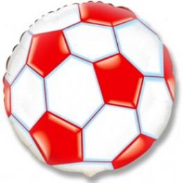 """Шар Круг """"Футбольный мяч"""", Красный 46 см"""