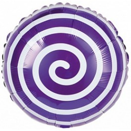 """Шары Спираль, Фиолетовый, 18""""/46см"""