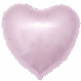 """Шар Сердце, Розовое матовое, (18""""/46 см)"""