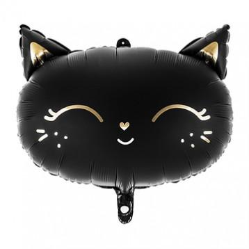 Голова кошки, черный матовый, 48 см