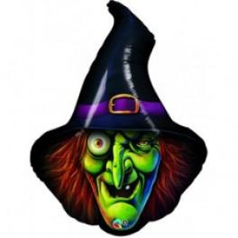 Шар Голова Ведьмы, Черная, 86 см