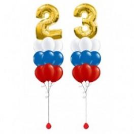 "Композиции из шаров ""Триколор с цифрами 23"""