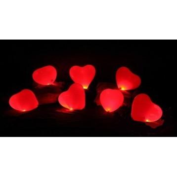 Сердца Светящиеся на пол,  50 шт.,