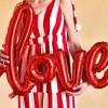 """Надпись """"LOVE"""", Красный (104 см)"""