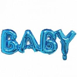 "Шары буквы, Надпись ""Baby"", Голубой"