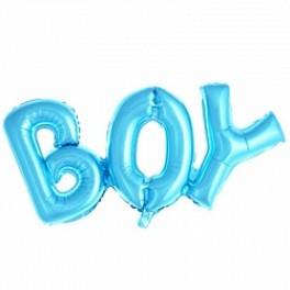 """Шары буквы, Надпись """"Boy"""", Голубой"""