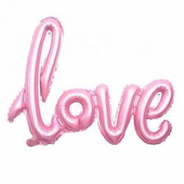 """Шары буквы, Надпись """"LOVE"""", Розовая (104 см)"""