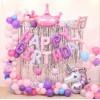 """Шары буквы, Надпись """"Happy Birthday"""", Розовый"""