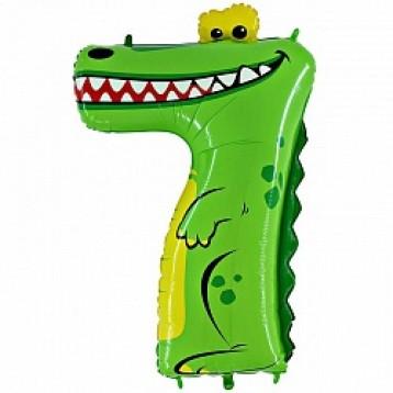"""Цифра 7, Крокодил, (40""""/102см)"""