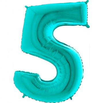 """Цифра 5, Тиффани, (40""""/102см)"""