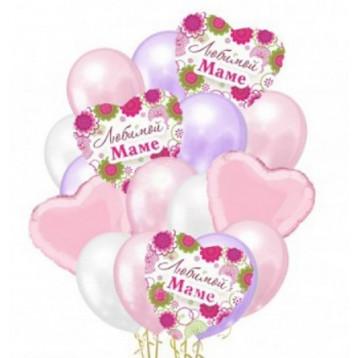 Букет шаров, Любимой маме