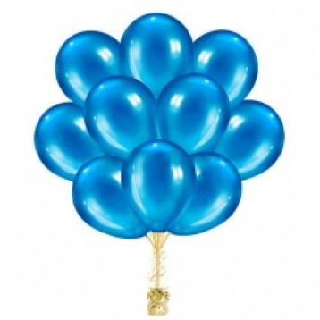 "Облако шаров ""Голубой металлик"" ,  25 шт."