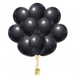 """Облако шаров """"Черные пастель"""" ,  25 шт."""