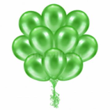 """Облако шаров """"Зеленые металлик"""",  25 шт."""