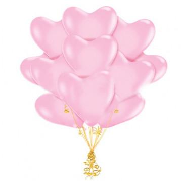 Облако шаров Сердца нежно-розовые, 25 шт.