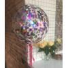 Шар Сфера 3D (50 см) прозрачная с конфетти