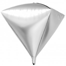 "Шар Алмаз 3D, Серебро, (17""/44 см)"