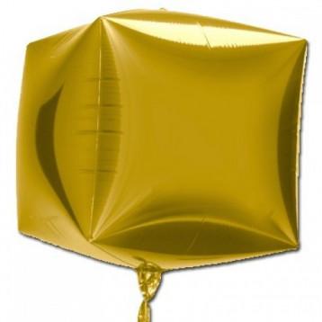 "Шар Куб 3D, Золото, (15""/38 см)"