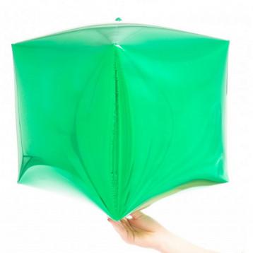 """Шар Куб 3D, Зеленый, (15""""/38 см)"""