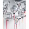 Шар Алмаз 3D, Серебро, 44 см.