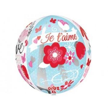 """Шар Сфера, """"LOVE """", (16""""/41 см) Bubble"""