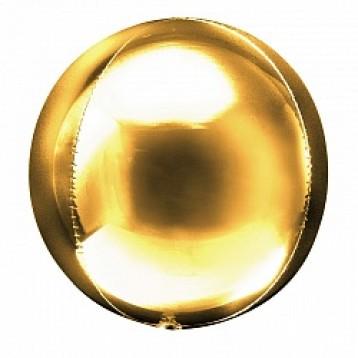 """Шар Сфера 3D, (20""""/51см), Золото"""