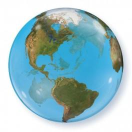 """Шар Сфера, """"Планета Земля"""", (22""""/56 см) Bubble"""